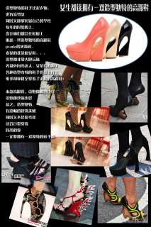 2012 NEW Womens NEW Patent Leather Platform Pumps High Heel Shoes 3
