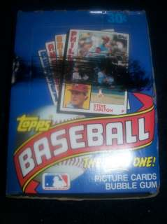 1984 TOPPS BASEBALL UNOPENED X OUT WAX BOX OF 36 PACKS L@@K   SEE
