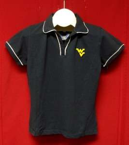 West Virginia Mountaineers womens navy blue polo shirt SMALL