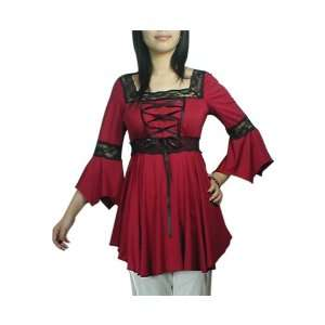 Gothic Romance Red Lace up Corset Top Xl: Everything Else