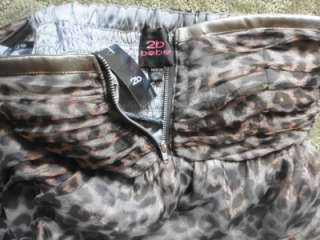 2b Bebe Chantelle Leopard Bubble Dress Tube Top Zipper Metallic