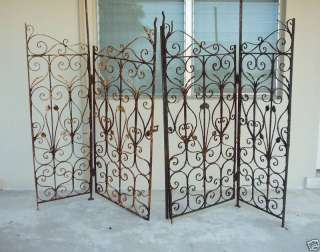 1920S WROUGHT IRON GATES OFF A MIAMI BEACH MANSION