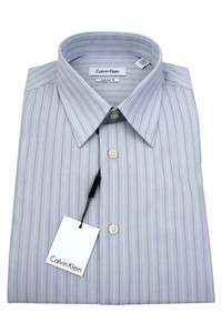 Calvin Klein Mens Dress Cotton Shirt LS CTN FCY Regular Fit Blue