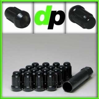 24 Black Chrome Tuner/Spline Drive Lug Nuts/Wheel Lugs