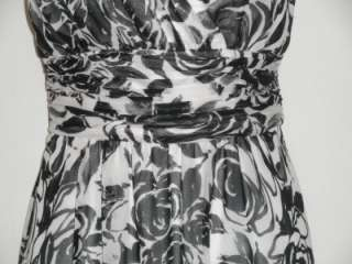 NEW WOT WHITE HOUSE /BLACK MARKET Lined Rose Print Long Dress Size   2
