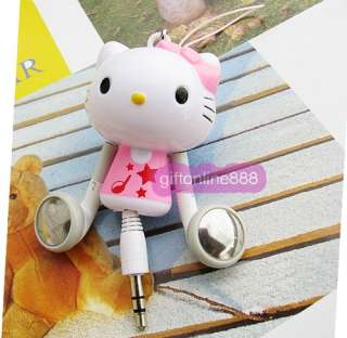 Hello Kitty Stereo Retractable  MP4 PC Earphone E13