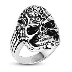 Clockworks Death Skull Cast Ring   Size 9 West Coast Jewelry Jewelry