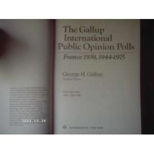 The Gallup international public opinion polls, France