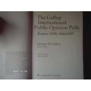 The Gallup international public opinion polls, France