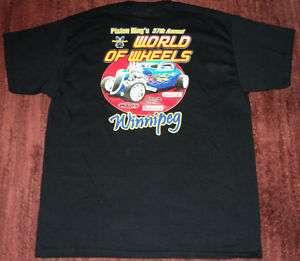 WILD NEW World Of Wheels Hot Rod Car Show T  Shirt XL