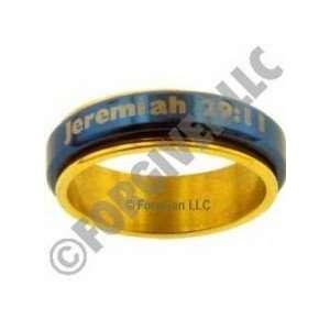 Gold Stainless Steel Spinner Ring   Jeremiah 29:11: Everything Else