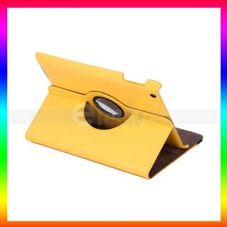 360a a magnetic smart cover leather case with rotating stand for ipad