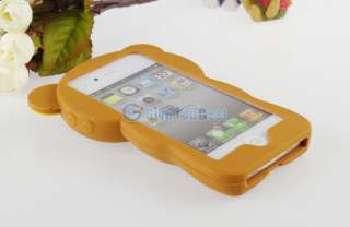 Brown Rilakkuma Bear Cute 3D Movable Flip Case Cover For iPhone 4 4S