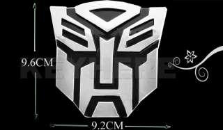 3D Decal Transformers Autobot Chrome Car Auto Sticker