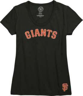 San Francisco Giants Womens Black 47 Brand Scoop Neck Fieldhouse