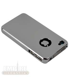 SILVER CHROME ULTRA THIN SLIM HARD CASE COVER for iPhone 4 4S Att