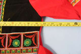 BEDOUIN Islamic Arabic Red Black Modern Embroidered Ethnic Maxi Dress