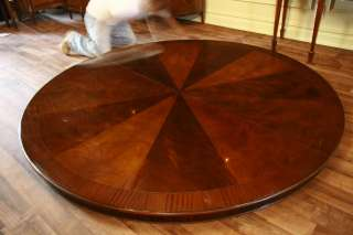 84 Round Table  Large Round Dining Table  Mahogany