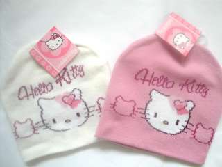 Girls HELLO KITTY Winter Beanie Hat NEW