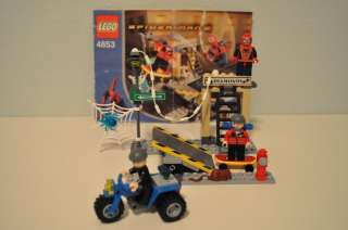 LEGO SPIDER MAN 4853 STREET CHASE COMPLETE + MANUAL SHIPS