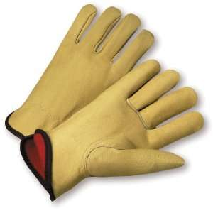 West Chester 9940KF Leather Glove, Shirred Elastic Wrist Cuff, 10.25