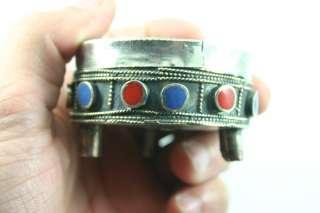BOX COMPRESSED MALACHITE AGAT AND LAPIS STONE WITH LOVE FEETS