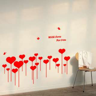 Heart Shoots Removable Vinyl Wall Sticker Decals VG 519