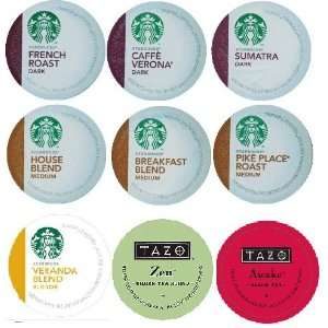 18 Count   Variety Pack of Starbucks Coffee & Tazo Tea K Cups for