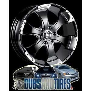 16x10 Ion Alloy wheels STYLE 136 Black w/ Machined Lip wheels rims