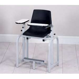 Extra tall blood drawing chair with plastic seat & swing