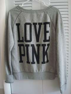 VICTORIA SECRET PINK PULLOVER SWEAT SHIRT LOVE PINK