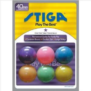 One Star Table Tennis Balls Color Options Multi Colored