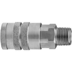 DC2504 3/8x 1/2 Male NPT Air Chief Industrial Quick Connect Fittings
