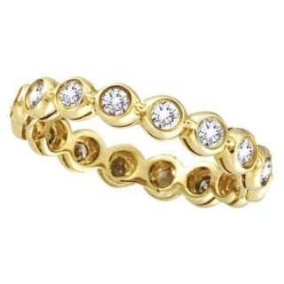 00ct Bezel Set Diamond Eternity Ring 14k Yellow Gold
