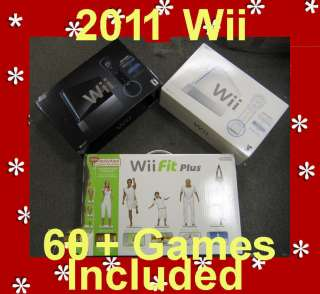 NEW NINTENDO WII SPORTS CONSOLE+FIT PLUS 2 Player Ctrls 045496880019