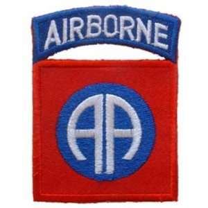 U.S. Army 82nd Airborne Patch Blue & Red 3 Patio, Lawn