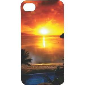 Clear Hard Plastic Case Custom Designed Sunset at the Beach iPhone
