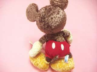 Disney Mickey Mouse Chocolate Color Big Plush / Japan SEGA 2003 Game