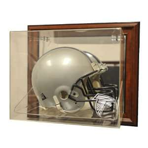 Atlanta Falcons Helmet Case Up Display, Brown   Acrylic Full Size
