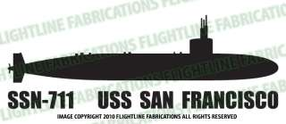 SSN 711 USS San Francisco Submarine Vinyl Sticker