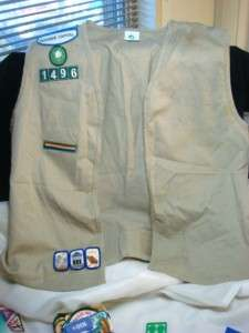 LOT 130+ PC GIRL SCOUT GS PATCHES PINS VESTS DAISY BROWNIE JUNIOR