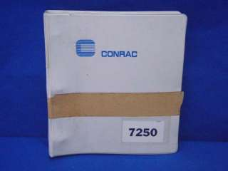 Conrac Model 7250 Install Operation Maintenance Manual