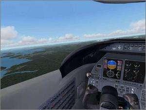 MS Flight Simulator 2004 PC CD modern airplane airport simulation game