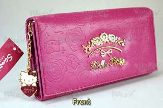 Hello Kitty Clutch Wallet with Zipped Coins Bag #885