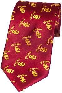 New Silk Necktie Neck Long Bow Tie USC Trojans Football