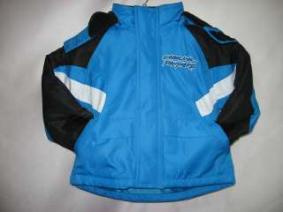 Carolina Panthers NFL Toddler Winter Jacket Jersey 2T