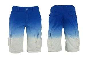 NEW MENS CARGO BOARD SHORTS FADED BLUE SIZE 30 36