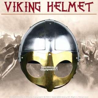 Medieval Viking Warriors Steel Helmet w/ Chin Strap
