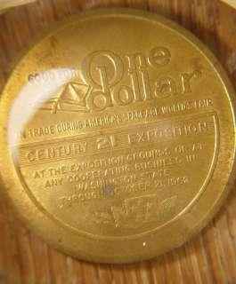 1962 Space age Seattle Worlds Fair One Dollar Token