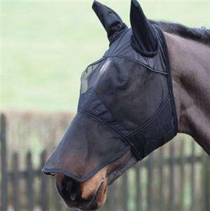 SUMMER SALE Full Face FLY Mask/Hood/Veil with nose XS,S,M,L,XL BLK